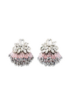 Athena pink crystal earrings with Murano and Miyuki glass beads