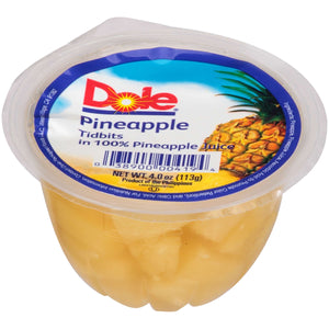 DOLE-Individual Pineapple Tidbits Cups (36-4oz cups)