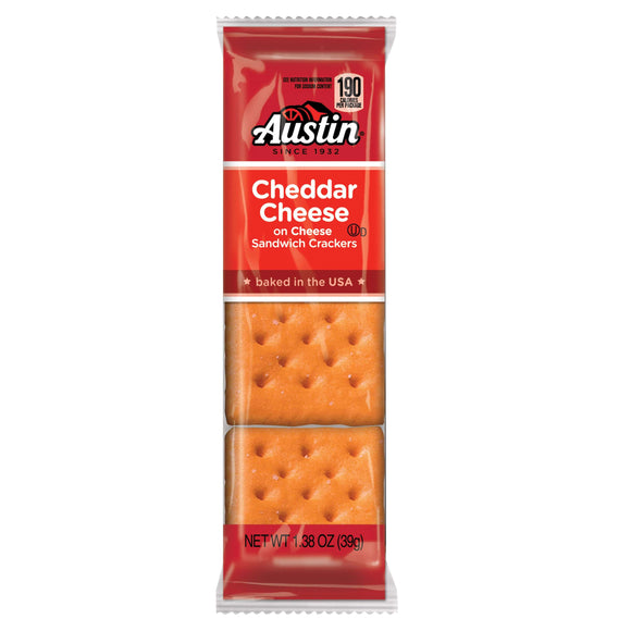 Cheese-on-Cheese Crackers (12- 8 count packages)