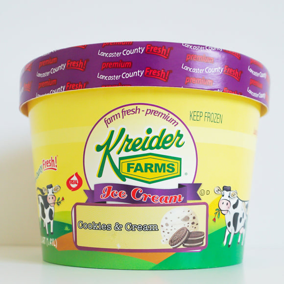 Cookies N' Cream Ice Cream Farm Fresh (1.5 quart)