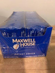 Maxwell House Instant Coffee (Individual Packs/100 Per Box)