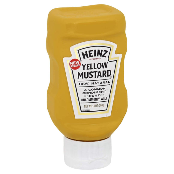 Mustard Upside Down Squeeze Bottle (13oz bottle)
