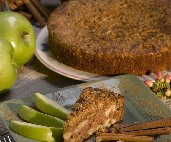 Apple Walnut Crumb Cake, Unsliced (9
