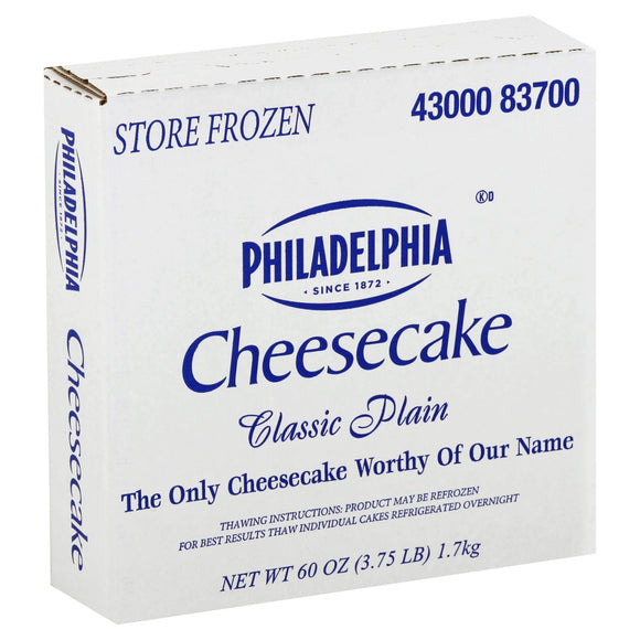 Sliced Plain NY Philadelphia Cheesecake (16 pieces)
