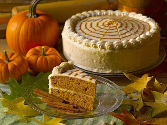 Pumpkin Spiced Layer Cake, Sliced (16 pieces)