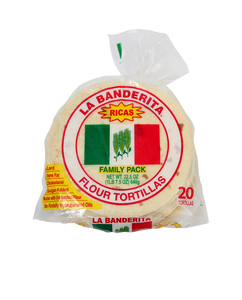 "Pack of 24 6"" flour tortillas"