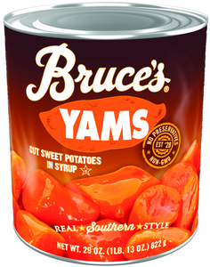 Bruces Canned Cut Yams in Syrup, #10 can