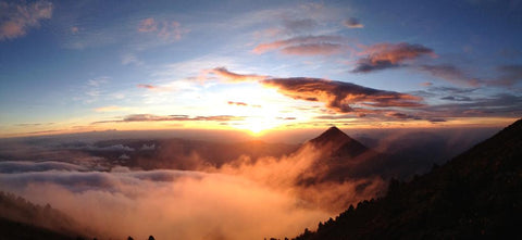 Sunrise looking over Volcano Acatenango