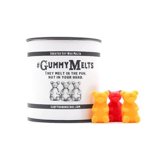 Hashtag VacationNeeded GummyMelts - Papaya, berries, orange - All Natural Soy Wax Melts; 3 ounces - Scents and Nonsense