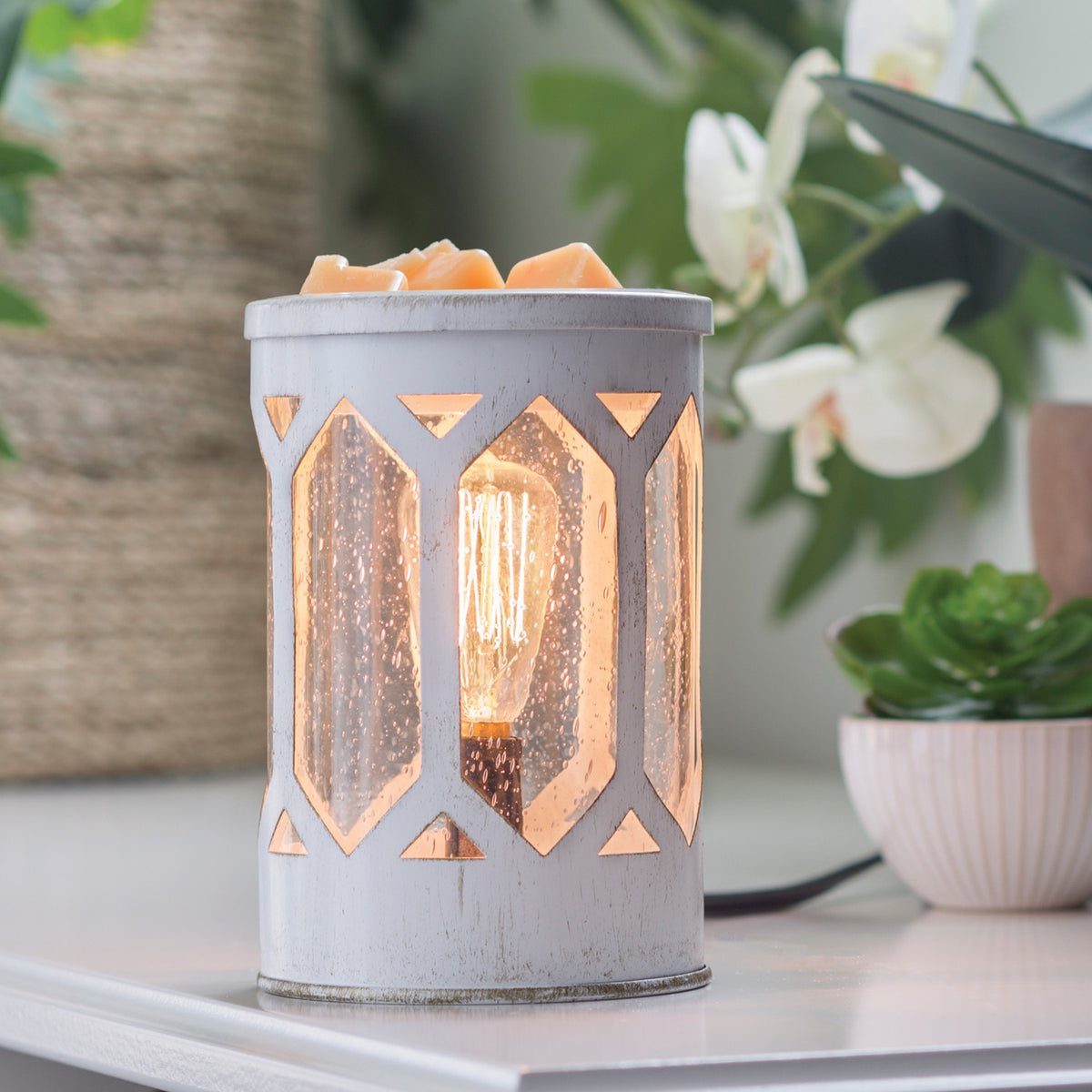 Candle Warmers Etc Arbor Illumination Edison Bulb Electric Wax Melter