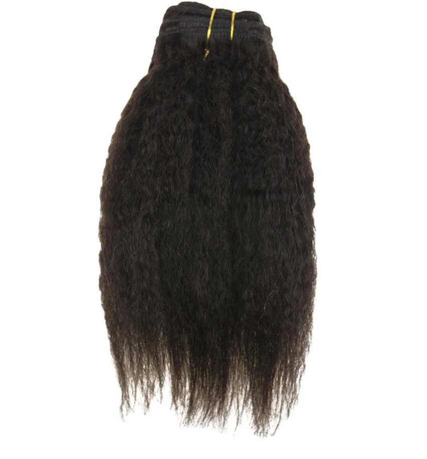 Kinky Straight Clip-In Extensions