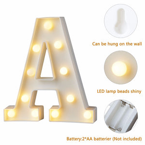 LED Alphabet Night Light