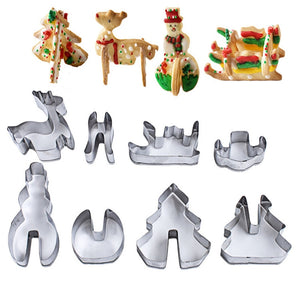 3D Christmas Cookie Cutter - 8 pieces