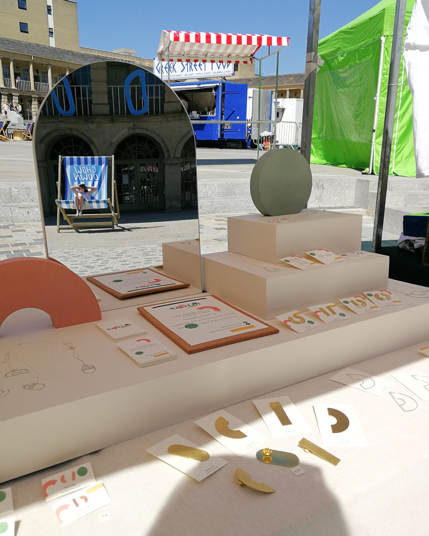 Today jewellery display at Chow Down at the Piece Hall Halifax