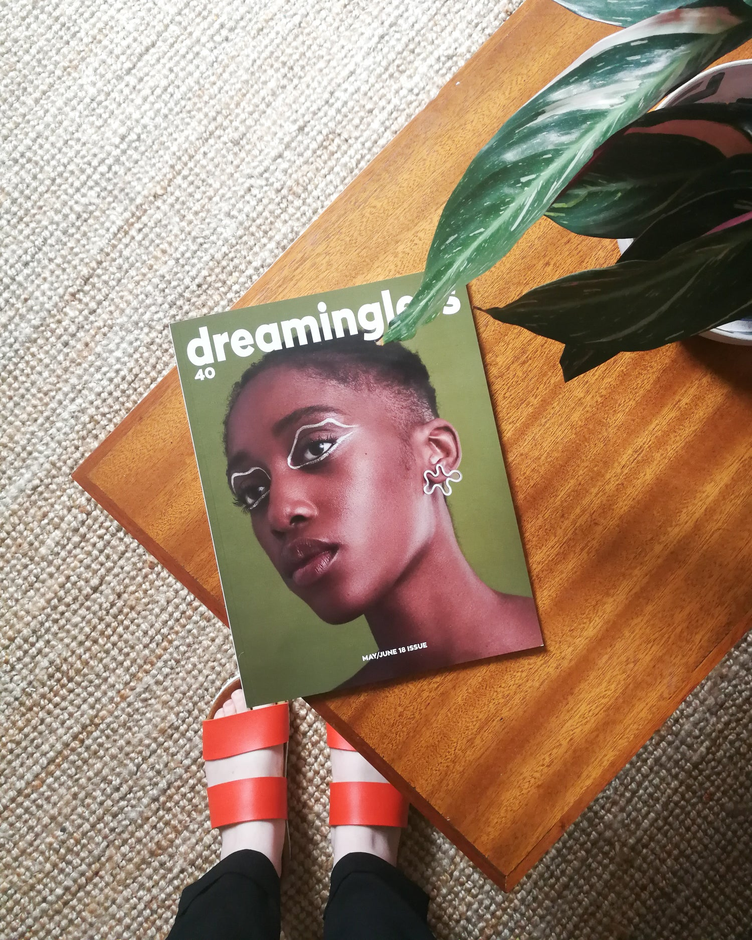 Front cover of Dreaminless Magazine on coffee table