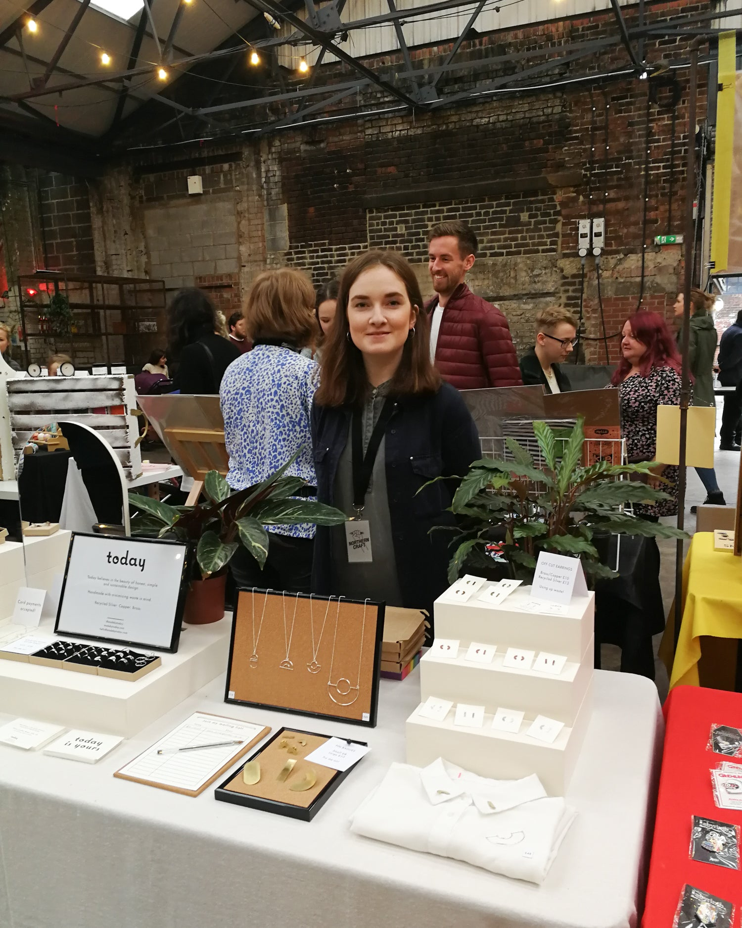 Searlait from Today jewellery trading at Northern Craft Sheffield