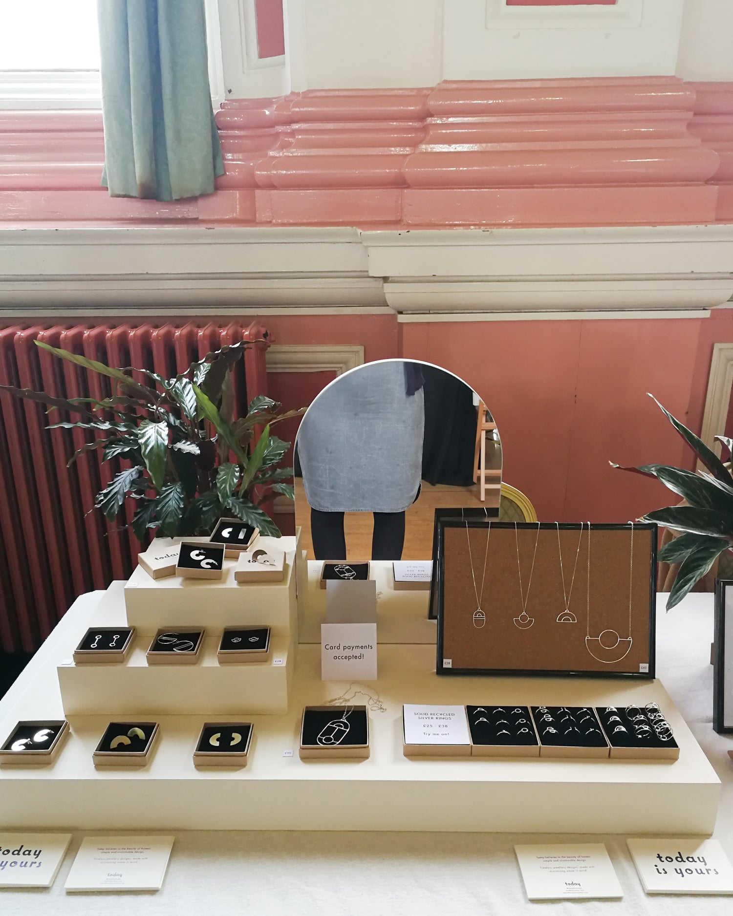 Today jewellery craft fair set-up at Saltaire Makers Market