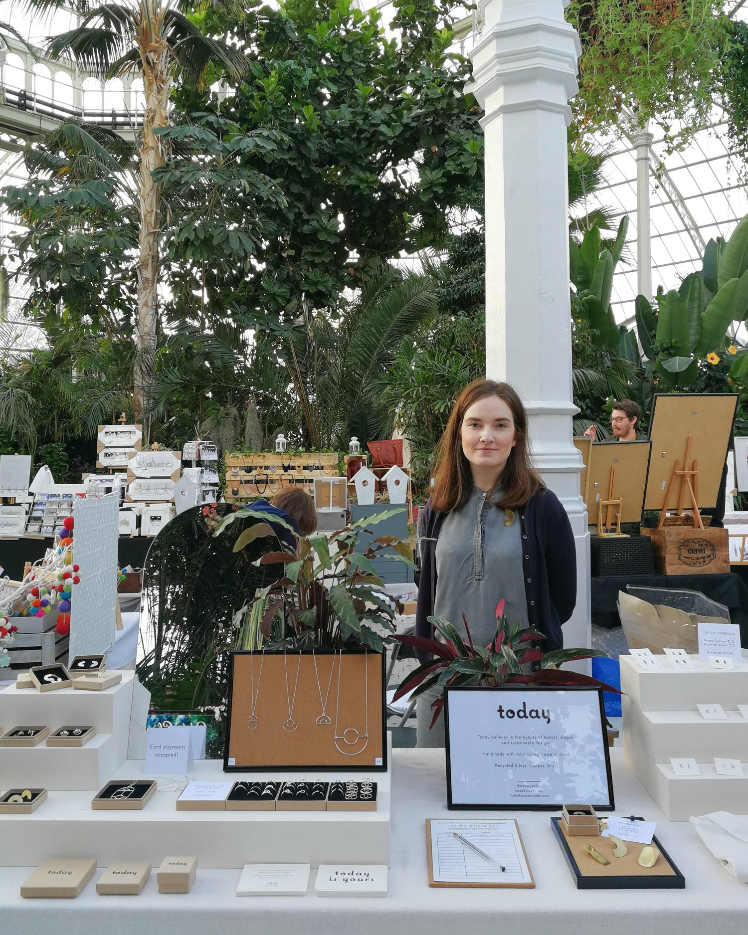 Today jewellery craft fair set-up at Pop-Up in the Palm House Liverpool