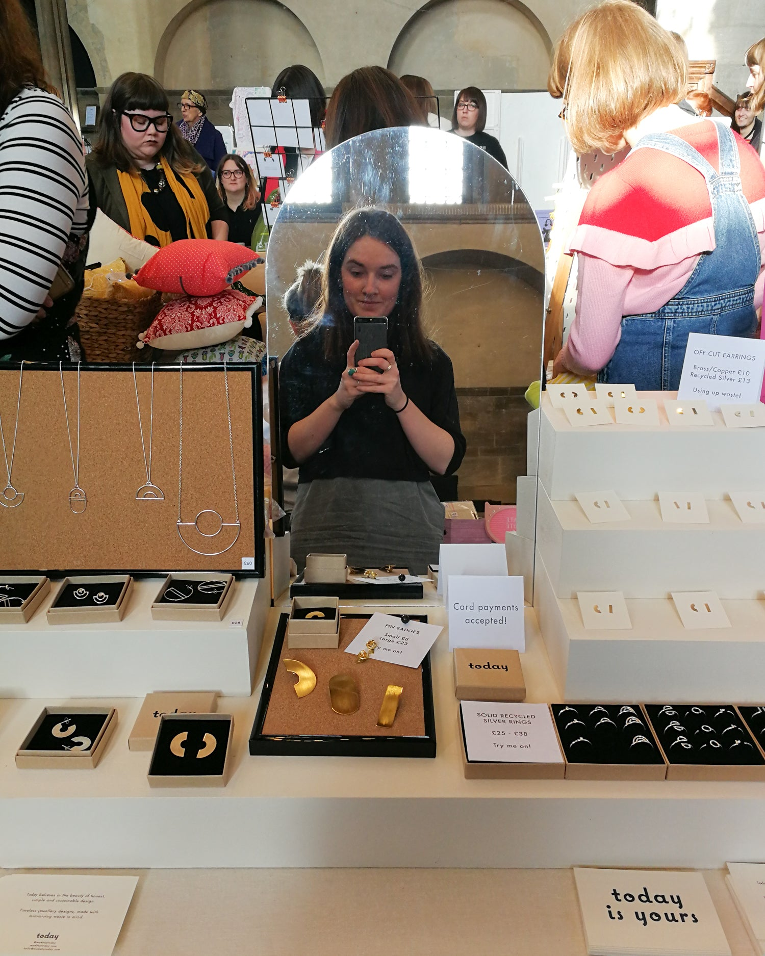 Today jewellery craft fair set-up at Girl Gang Leeds Arts Market