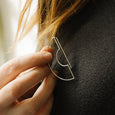 Unusual geometric silver pin detail by Today
