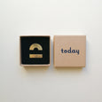 Today Jewellery Brass Pin Badge Set
