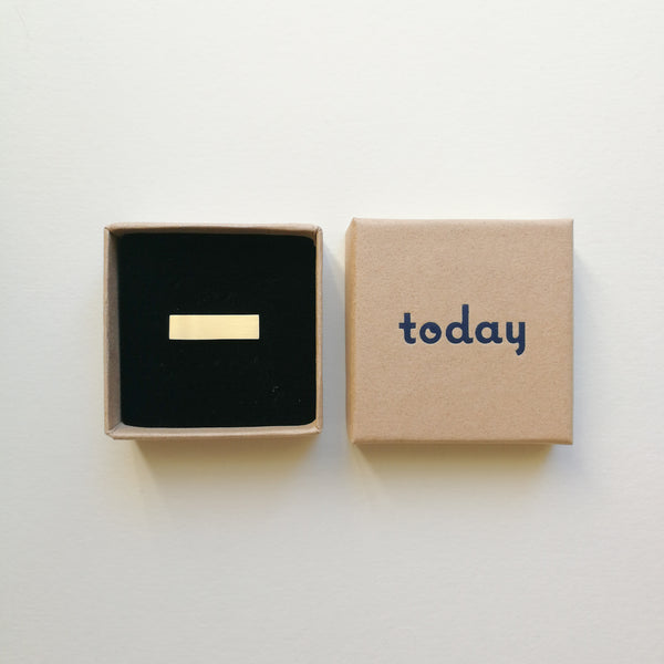 Mini Rectangle Pin Badge