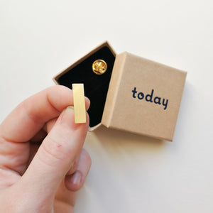 Today Jewellery Mini Rectangle Pin Badge