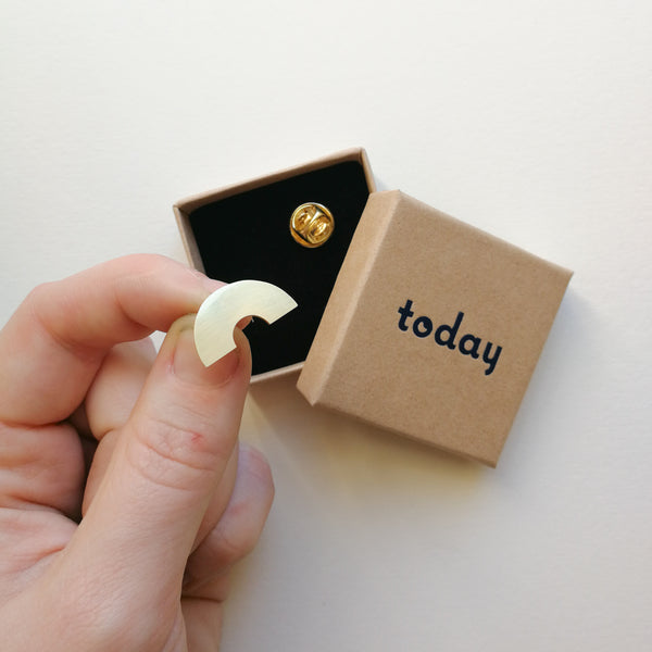 Today Jewellery Mini Arc Pin Badge