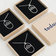 Today jewellery geometric necklaces in boxes