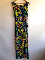 Robbie Bee Blue Floral Maxi Wrap Dress (Size 12)