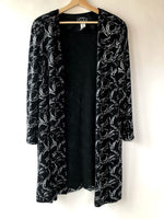 80s Alex Evenings Abstract Glitter Duster (XL)