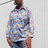 60s 70s Hamilton Floral Blouse (Medium)