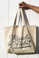 Threads of Habit Logo Tote Bag