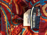 Avon Fashions Burgundy Abstract Shorts (XS/S)