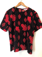 Black and Red Asian Theme Top (L)