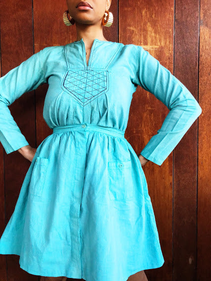 Teal Pleated Tunic (XS/S)