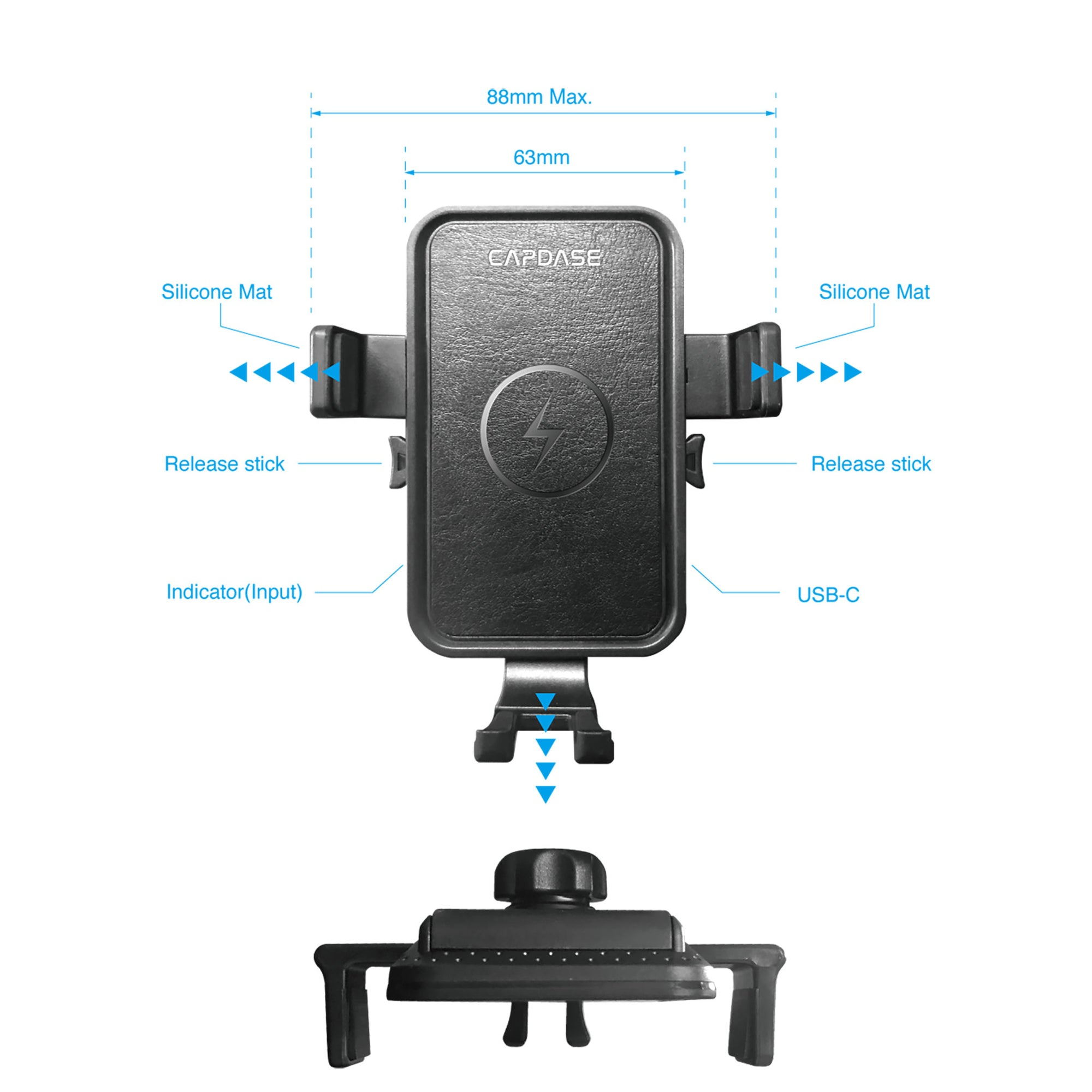 ROADER II Fast Wireless Car Charging Mount