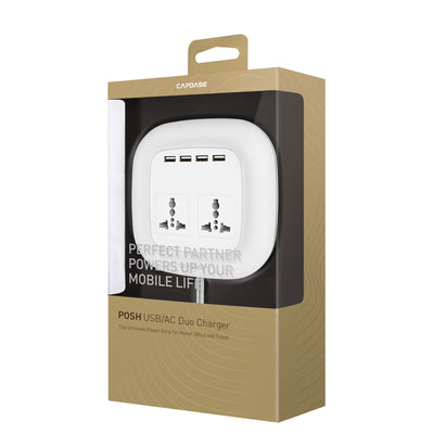 POSH USB and Duo AC Socket Charger (UK,BS, Hong Kong Plug)