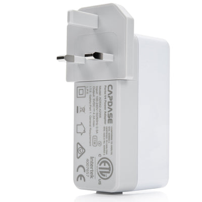 PORTO V4 Quartet USB Power Adapter (UK,BS, Hong Kong Plug)