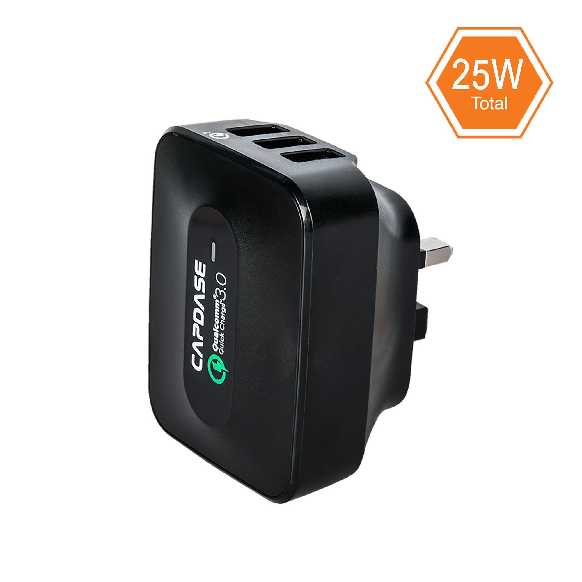 RANGER 3U25B QC3.0 Wall Charger with Cable Kit (UK,BS, Hong Kong Plug)