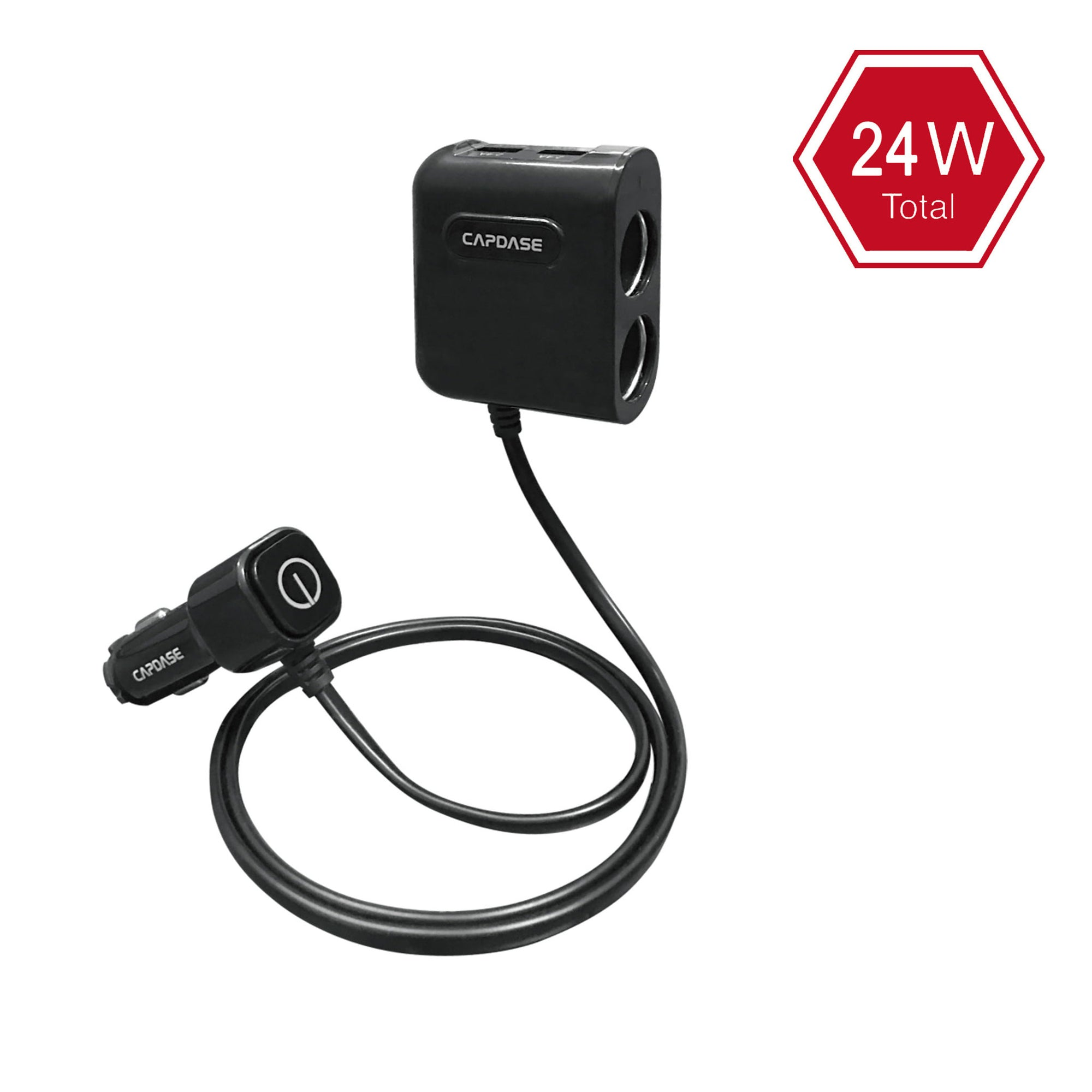 POWERHUB BM48 2-Socket and 2-USB Car Charger