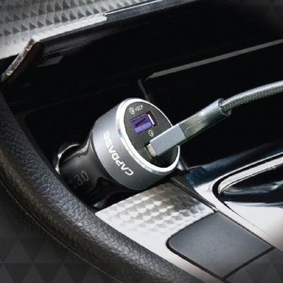RAPIDER Super2Q36 QC 3.0 and USB-C PD Car Charger