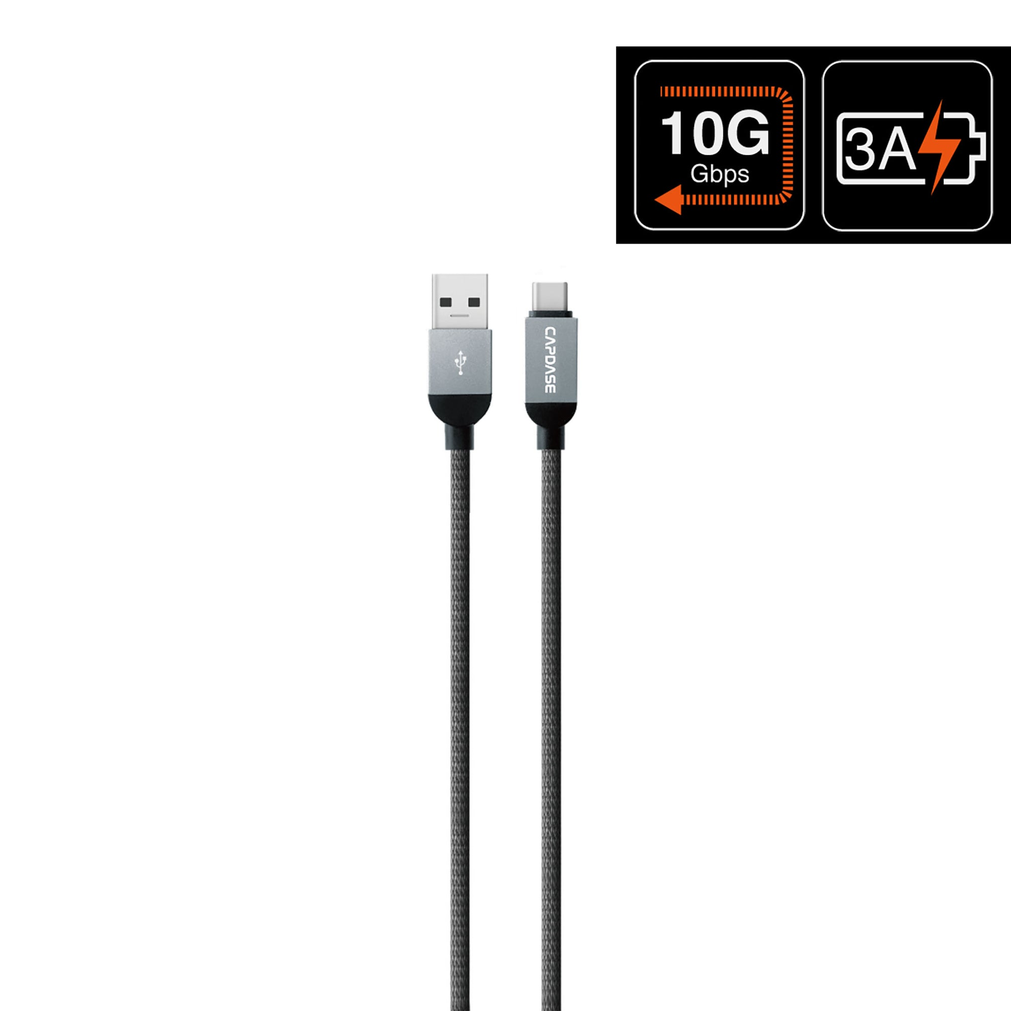 METALLIC CA10G USB-C To USB-A Sync and Charge Cable 1M (10 Gbps)