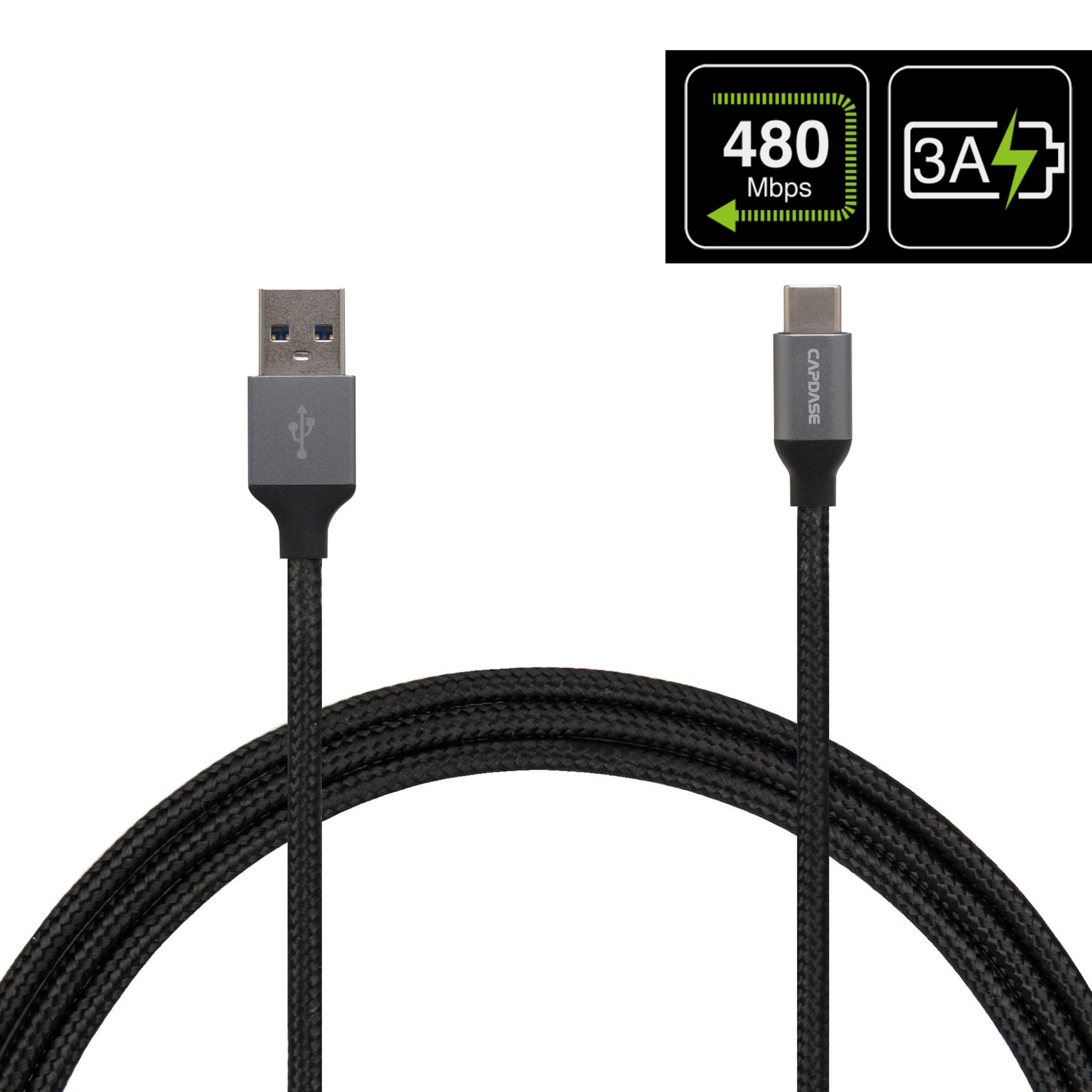 METALLIC CA4M USB-C To USB-A Sync and Charge Cable 1.5M