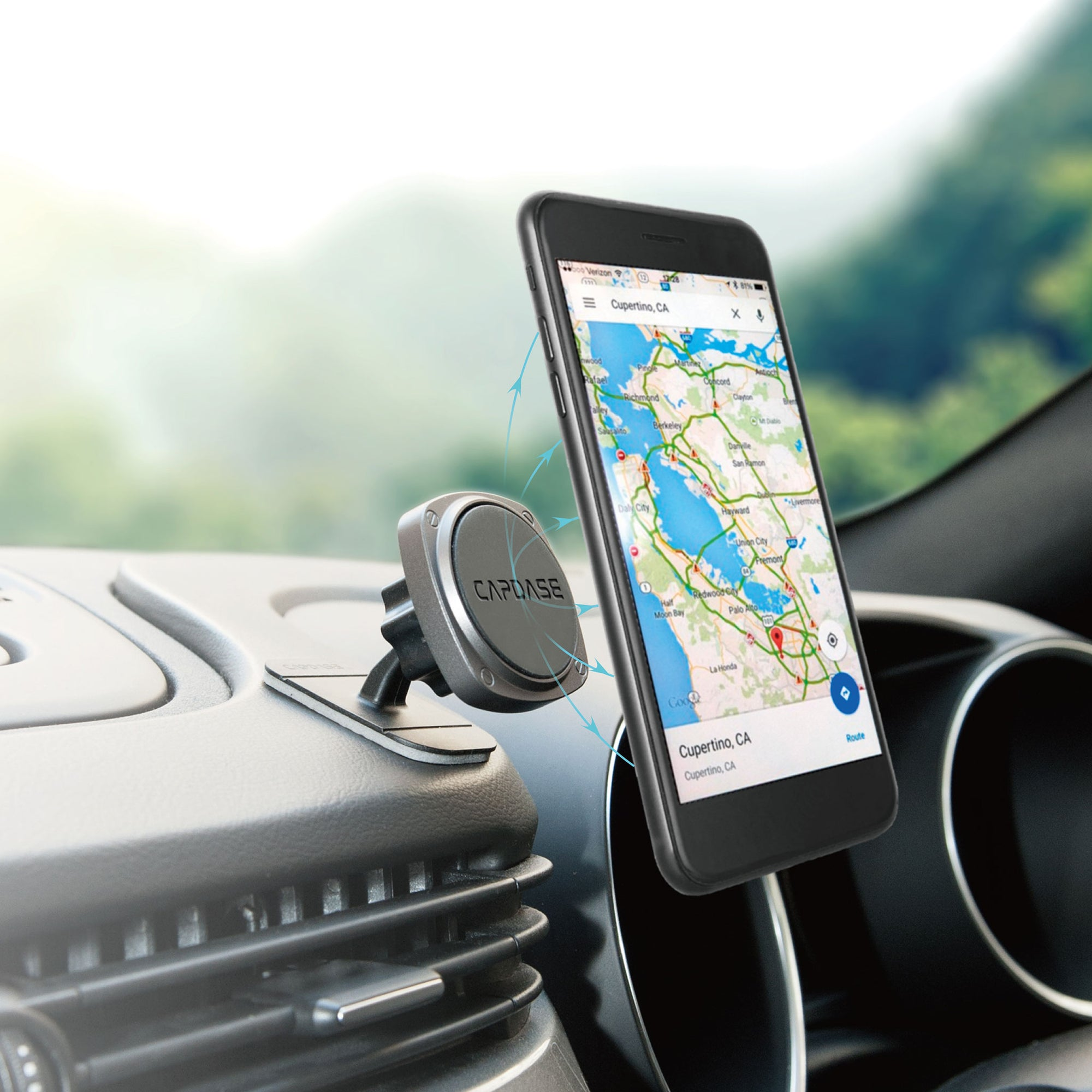 SQUARER Magnetic Car Mount Mini Tack