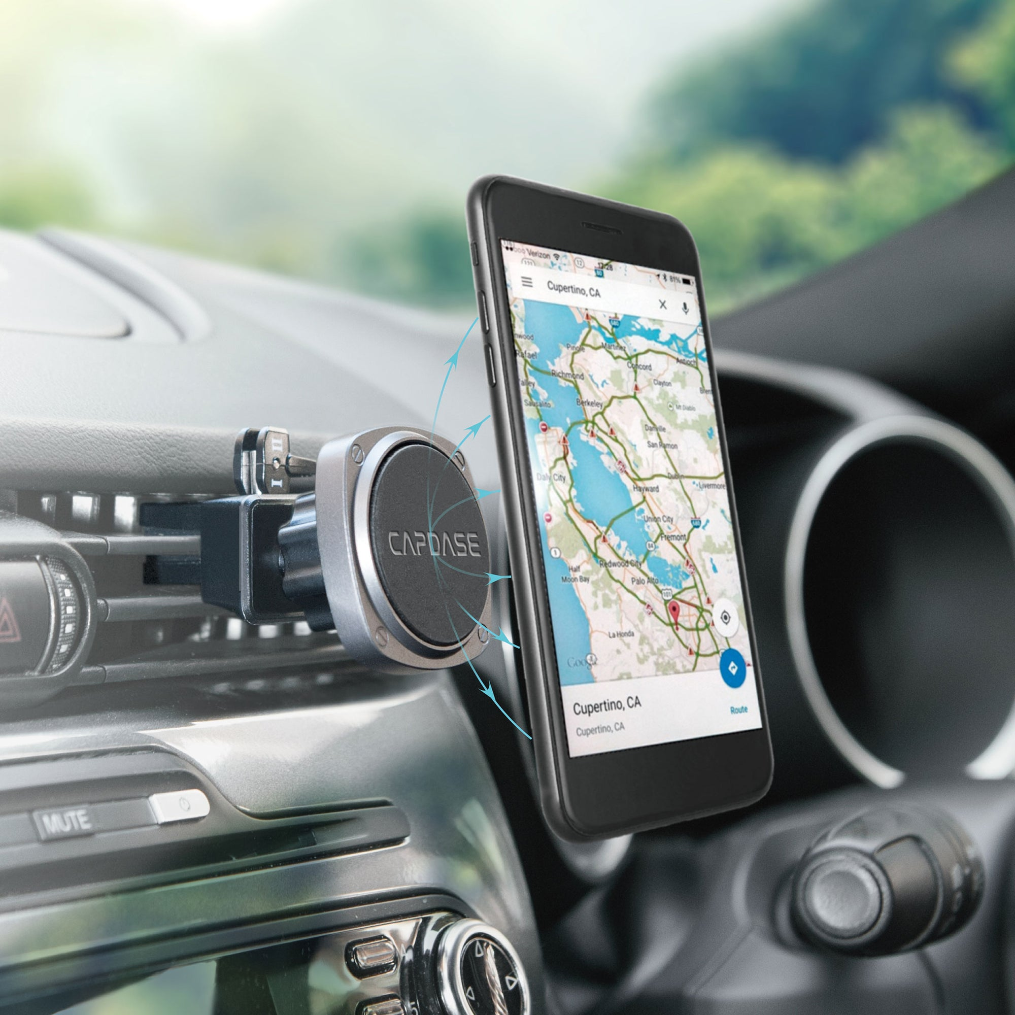 SQUARER Magnetic Car Mount Air Vent Clip