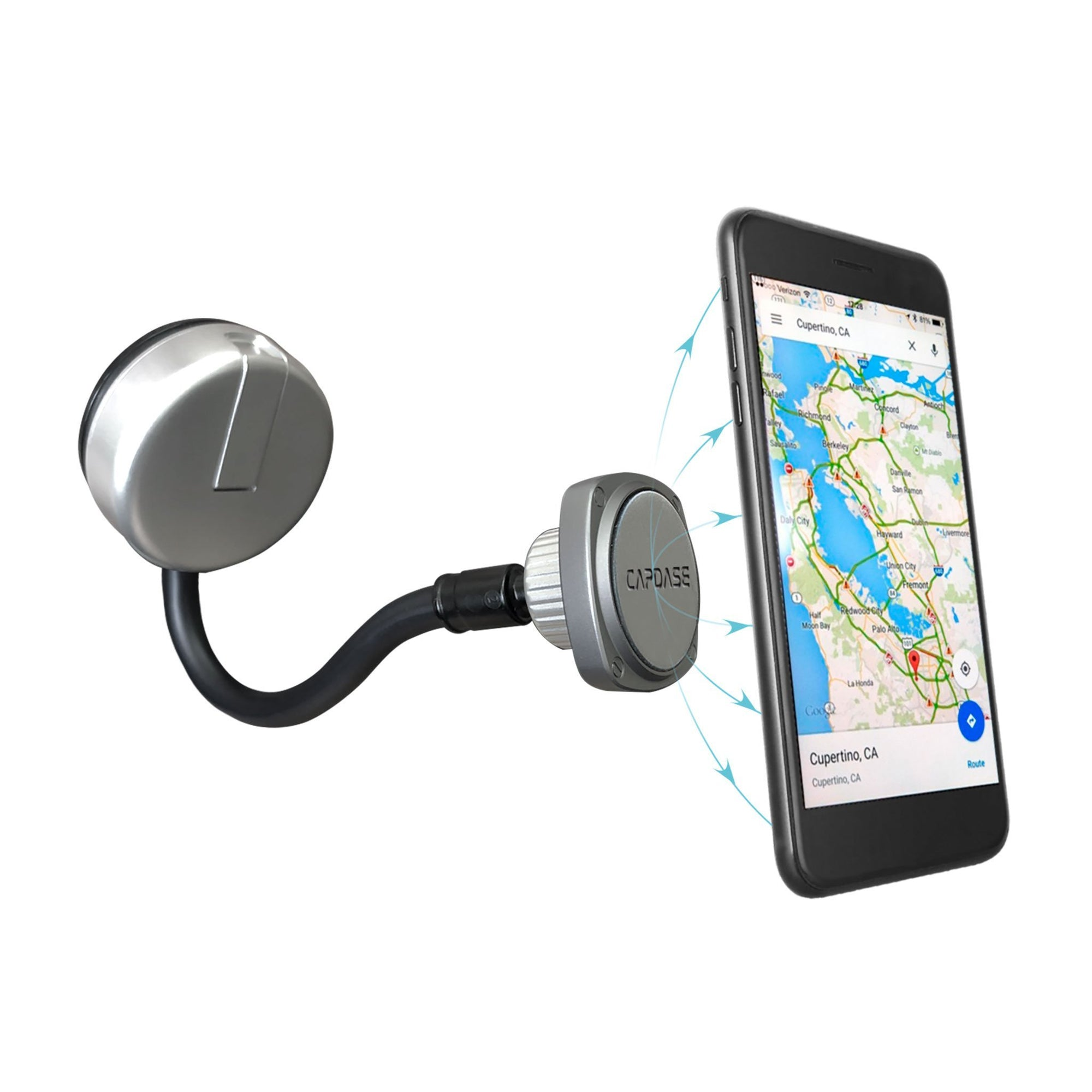 SQUARER Magnetic Car Mount Sunction Cup CHIC - Gooseneck Arm