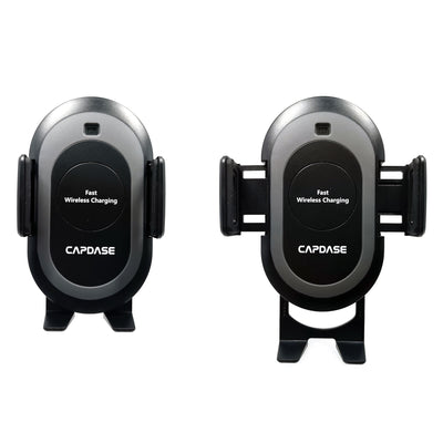 CB Power Fast Wireless Charging Auto-Clamp Car Mount Telescopic Arm