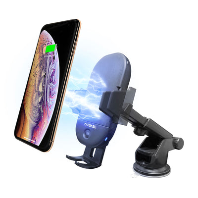 CB Power Pro Fast Wireless Charging Auto-Clamp Car Mount Telescopic Arm