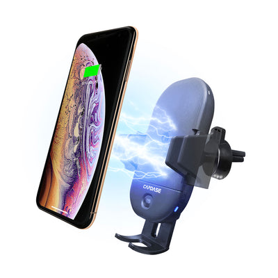 CB Power II Fast Wireless Charging Auto-Clamp Car Mount Telescopic Arm